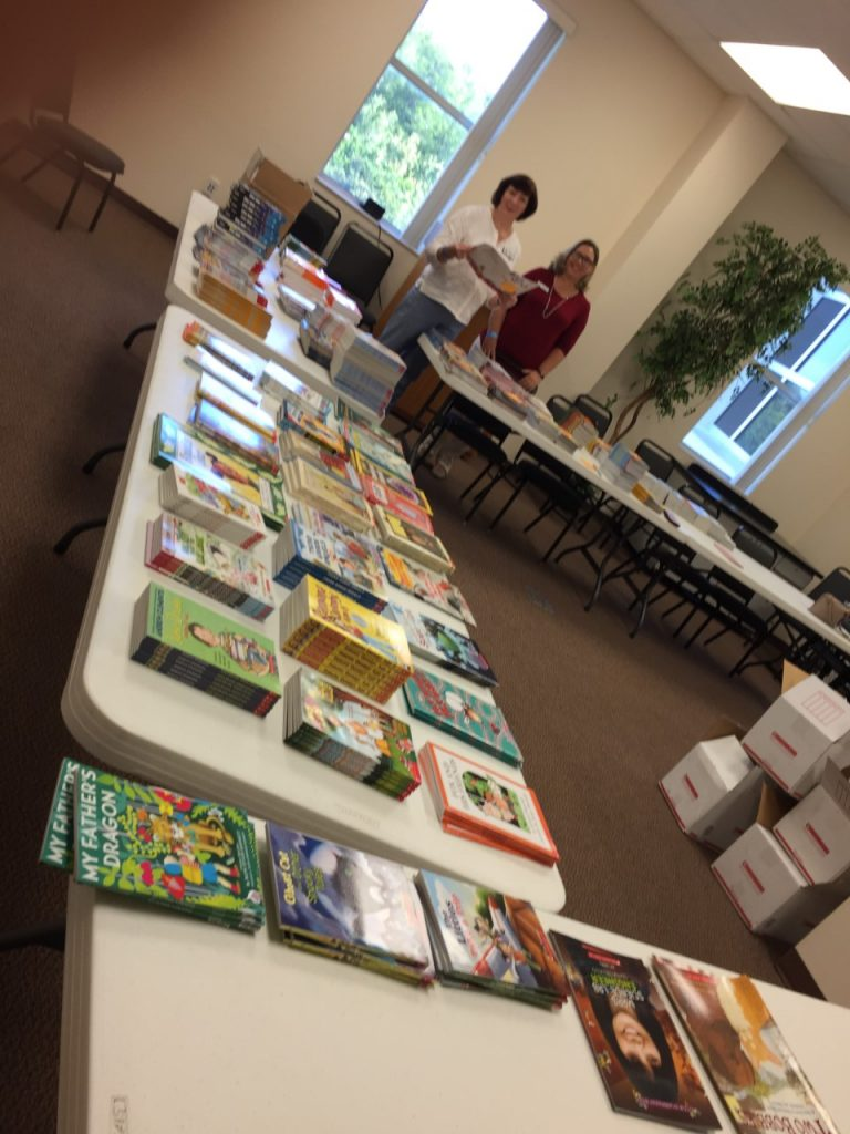 The books that are being gifted to 75 Summer Reading Students